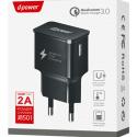 LTP-J8501-QC30NOIR - LT-Plus Chargeur secteur USB Quick-Charge 3.0 Qualcomm 2A coloris noir