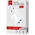 LTP-J8512-CH2USB2A - LT-Plus Chargeur secteur 2xUSB compact 2A