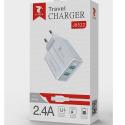 LTP-J8524-USBC - Chargeur 2 x USB avec câble USB-Cde LTPLUS 1 mètre