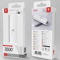 LTP-P8581 - Batterie de poche compacte Fast-Charge 2600 mAh blanche LT-Plus