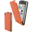 LUXYIP5CORANGE - Etui iPhone 5c rabat vertical coloris orange