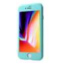 MAGNETCASE-IP7TURQ - Coque iPhone 7/8 Protection 360° intégrale turquoise avec verre écran