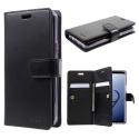 MANSOOR-S9NOIR - Etui Galaxy-S9 Mercury Mansoor avec portefeuille intégré
