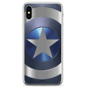 MARVEL-MPCCAPAM1883 - Coque souple iPhone X/Xs Captain America gris sous licence Marvel
