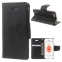MERCURYBRAVO-IP5SNOIR - Etui iPhone SE et 5s Mercury Bravo logements carte fonction stand coloris noir