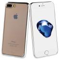 MLBKC0098-IP78PLUSGRIS - Coque Muvit pour iPhone 6/7/8+ contour aspect métal gris