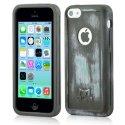 MOLS-IP5CLEBLUE - Coque antichoc MOLS Limited Edition coloris bleu métal pour iPhone 5c