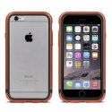 MOSHI-BUMPLUXIP6CUIVRE - Coque Bumper Moshi iGlaze Luxe iPhone 6s aluminium cuivre entourage gel