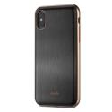 MOSHI-IGLAZEIPXNOIR - Coque iPhone X iGlaze de Moshi noir avec contour doré