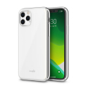 MOSHI-IGLAZIP11PMAXBLANC - Coque iPhone 11 PRO MAX iGlaze de Moshi blanc avec contour gris silver