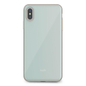 MOSHI-IGLAZIPXSMBLEU - Coque iPhone XS-Max iGlaze de Moshi turquoise avec contour métal