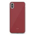 MOSHI-IGLAZIPXSMROUGE - Coque iPhone XS-Max iGlaze de Moshi rouge avec contour métal