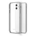 MOSHI-VITROIP11SILVER - Coque iPhone 11 Moshi Vitros dos transparent et contour silver