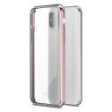 MOSHI-VITROIPXROSE - Coque iPhone X Moshi Vitros dos transparent et contour rose