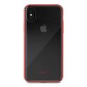 MOSHI-VITROIPXROUGE - Coque iPhone Xs Moshi Vitros dos transparent et contour rouge