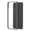 MOSHI-VITROIPXSMAXNOIR - Coque iPhone XS Max Moshi Vitros dos transparent et contour noir