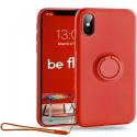 MOX-BELOOPIPXSRED - Coque souple iPhone XS Be-Loop de Moxie coloris rouge