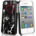 MUBKC0463 - Coque Muvit noire I Love New York pour iPhone 4S et 4