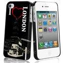 MUBKC0464 - Coque Muvit noire I Love London pour iPhone 4S et 4