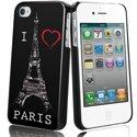 MUBKC0465 - Coque Muvit noire I Love Paris pour iPhone 4S et 4