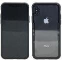 MUBKC0980-IPXS - Muvit GlassSkin pour iPhone X/Xs contour noir et dos en verre trempé