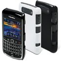 MUCCPBK9700004 - Pack 2 Coques Muvit noire et blanche Glossy Blackberry Bold 9700 9780