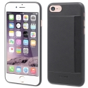 MUCRC0004-IP8 - Muvit Coque iPhone 7/8 logement carte aspect cuir noir