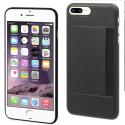 MUCRC0010-CARIP8PLUS - Coque iPhone 6/7/8 Plus noire avec logement carte