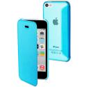 MUEAF0084-IP5C - Etui Muvit Folio iPhone 5c bleu rabat latéral ultra fin
