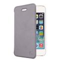 MUEAF0226-IP5 - Etui folio gris iPhone 5S/SE rabat latéral fin de Muvit