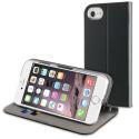 MUFIT0001-IP7NOIR - Etui iPhone 7/8 cuir noir rabat latéral avec logements cartes