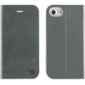 MUFIT0002-IP7GRIS - Etui iPhone 7/8 cuir gris rabat latéral avec logements cartes