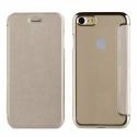 MUFLC0001-IP7GOLD - Etui iPhone 6/7/8 de Muvit Folio-Case rabat gold et dos crystal