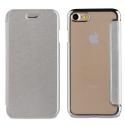 MUFLC0002-IP7SILVER - Etui iPhone 6/7/8 de Muvit Folio-Case rabat silver et dos crystal