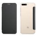 MUFLC0177-Y62018 - Etui Huawei Y6-2018 Muvit Folio-Case rabat noir et dos crystal