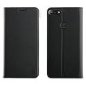 MUFLS0200-Y72018 - Etui Huawei Y7-2018 Muvit Folio-Case rabat noir fonction stand
