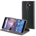 MUFLS0201-NOKIA7PLUS - Etui Nokia-7 PLUS Folio-Stand noir rabat latéral avec logements cartes