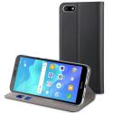 MUFLS0202-Y52018 - Etui Huawei Y5-2018 Muvit Folio-Case rabat noir fonction stand