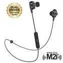 MUHPH0110 - Casque bluetooth intra-auriculaire coloris noir double hauts-parleurs