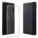 MUPAK0422-NOKIA1PLUS - Pack Muvit Nokia 1+ avec Coque souple et verre protection écran