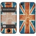 STICKIP4_ROYUNI - Set de Stickers pour Apple iPhone 4 Skin Kit Thème Drapeau Royaume Uni