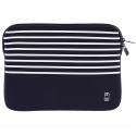 MW-410065-PRO13P - Pochette zippée MacBook Pro 13 pouces marinière bleue - mousse protectrice