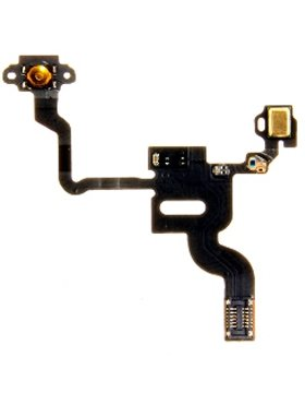 NAPPEPOWERIP4 - Nappe avec bouton Power et micro sup�rieur iPhone 4