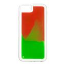 NEONA50ROUGEVERT - Coque avec liquide Samsung Galaxy A50 rouge et vert