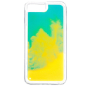 NEONIPX-BLEUJAUNE - Coque avec liquide iPhone X/Xs coloris bleu et jaune