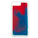 NEONIPXR-BLEU - Coque avec liquide iPhone XR coloris rouge et bleu