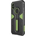 NILLKDEF-IPXRRVERT - Coque iPhone XR Nillkin Defender ultra robuste noir et vert