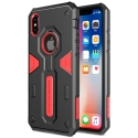 NILLKDEFENDIPXROUGE - Coque iPhone X Nillkin Defender ultra robuste noir et rouge