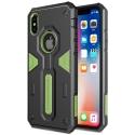 NILLKDEFENDIPXVERT - Coque iPhone X Nillkin Defender ultra robuste noir et vert