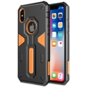 NILLKDEFENDIPXVORANGE - Coque iPhone X Nillkin Defender ultra robuste noir et orange